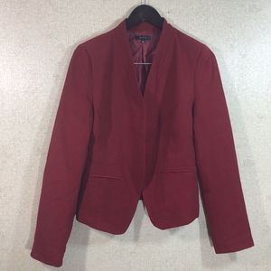 Mine Open Front Lined Blazer Red
